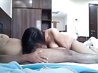 Fucked College Girlfriend in Hotel Room blowjob brunette creampie