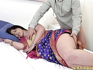 Hot Big Ass Indian MILF enjoys anal sex with young son anal blowjob bbw